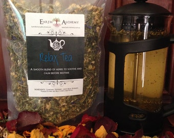 Relax Herbal Tea - Organic Herbal Infusion/Blend Calming