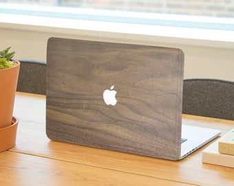 Wood Front Cover Laptop Decal Sticker Cover For Apple Macbook (12, 13, 15) Inch Protective Skin.