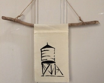 Watertower Wall Hanging Banner