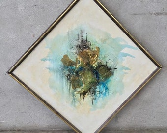 Mid Century Abstract Painting by Van Gores (X9BUDA)