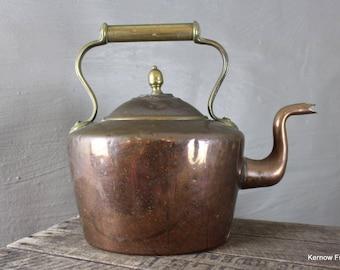 Decorative Stove Top Antique Copper & Brass Kettle