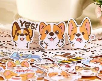 Corgi Cute Stickers / Kawaii Stickers / New Stickers Funny Sticker / Single Sticker TZ1625