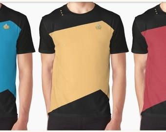 Graphic T-Shirt Men - Star Trek - Starfleet Uniform
