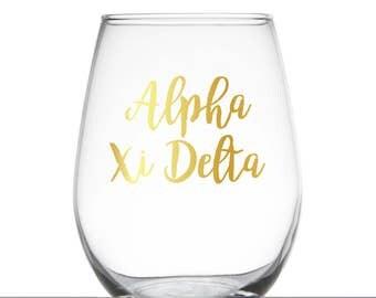 Alpha Xi Delta Glass