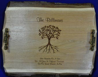 Wedding Gift ~ Wedding Gift For Couple ~ Wedding Gift For Parents ~ Personalized Wedding Gifts ~ Serving Trays ~ Family Name Gifts ~ Wood ~