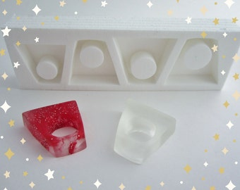 silicone resin ring jewelry mold SARAH also usable with concrete or polymer clay