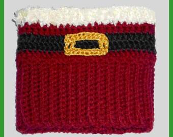 Crochet Pattern: Santa Boot Cuff ~ Christmas Holiday