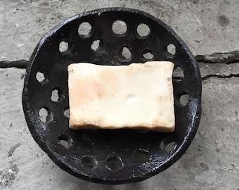 Black Ceramic Soap Dish-Ceramic Soap Dish-Pottery Soap Dish-Ceramics And Pottery