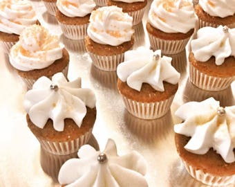 Cupcakes, Mini Cupcakes, Personalized Cupcakes, Edible Favors