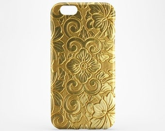 iPhone 7 Case Gold Flowers iPhone 6 iPhone 7 Plus iPhone 6 Plus Case iPhone 4-5 iPhone SE iPhone 5C Case iPod Touch 5 Gold Galaxy S6 S7 Case