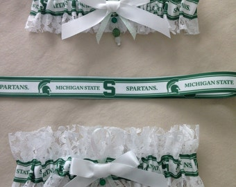 "Michigan State ""Spartans"" Garters"