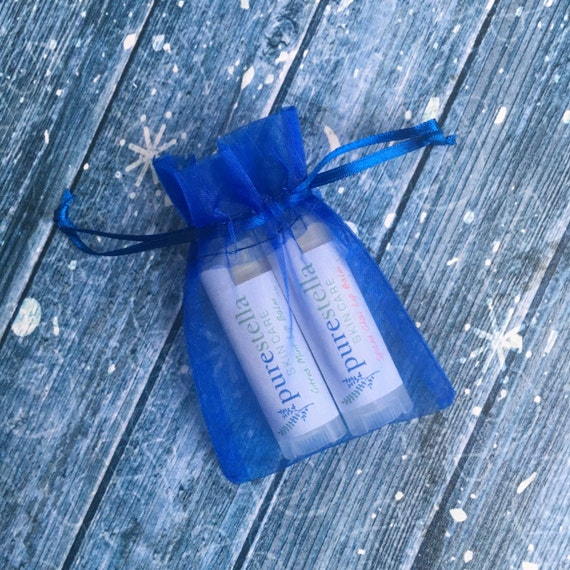 Lip Balm Gift Set - 2 pack of all natural hand poured lip balm