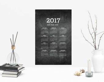 2017 Chalkboard Poster Calendar, Best Year Ever