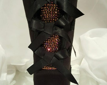 Bling UGG boots- custom UGG boots- bailey bow uggs- bling uggs- bling bailey bow uggs