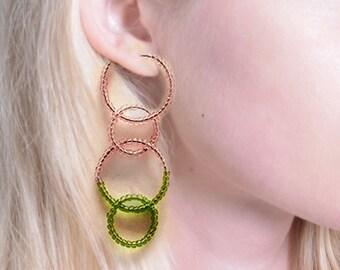 multi hoops earrings