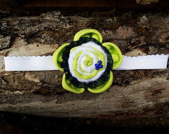 Neon Green Handmade Headband