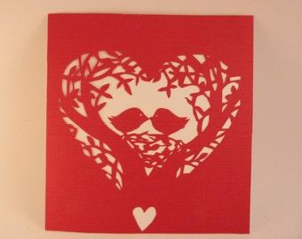 Paper Cutting Art - Love Birds - Birds Nest - Tree - Heart