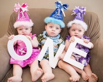 Personalized Birthday Hat, 1st Birthday Hat, First Birthday Hat, Personalized Party Hat, Custom Baby Party Hat, Personalized Party Hat
