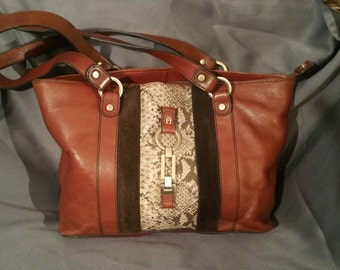 Brown Leather Etienne Aigner Shoulder Bag
