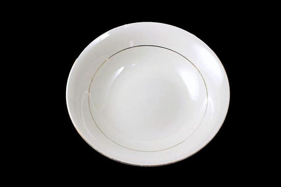 Vegetable Bowl, Potter & Smith, White and Gold, Fine China