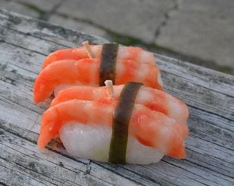 Shrimp sushi candle