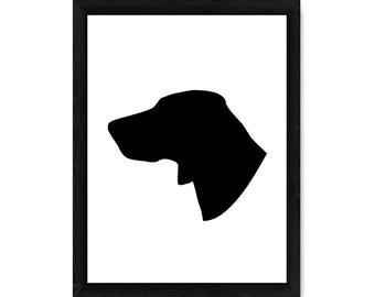 Weimaraner Dog Silhouette PRINT