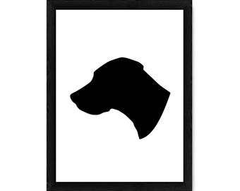 Great Dane Dog Silhouette PRINT