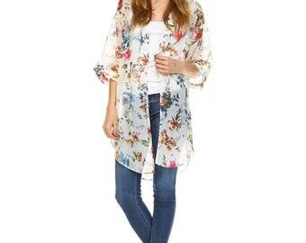 Floral Kimono~2 colors