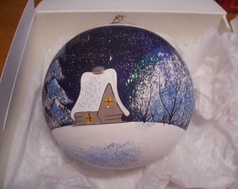 Jumbo Hand Painted Glass Christmas Ornament