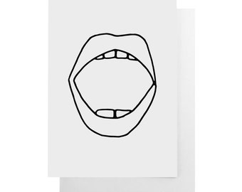 mouth note card