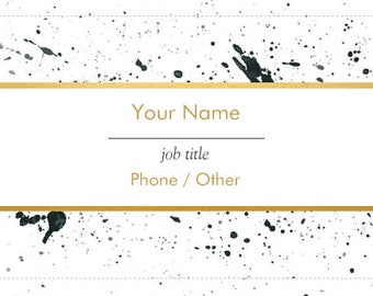 Reverse Side to Custom Business Card