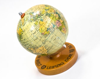 10% OFF World Globe non-existing country. Earth Globe desk. Old World globe from the years 1960 /1971. Vintage globes. Old world maps.