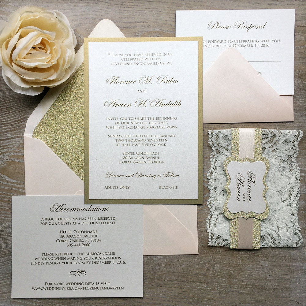 wedding invitations with lace wrap - 28 images - 75 best images ...