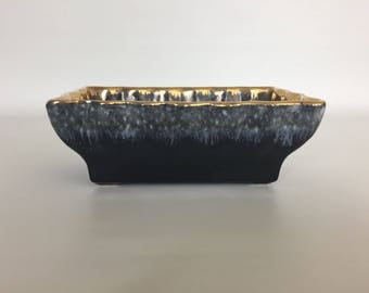 Small Vintage Black Hull Planter Flower Pot - Mid Century
