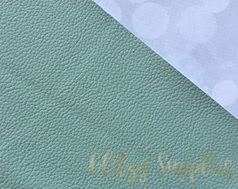 Mint Textured Faux Leather Sheet 8 X 11 - Textured Faux Leather Sheet