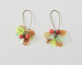 leaf Lampwork earrings.