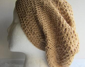 Dune - Crocheted Tan Beanie Hat