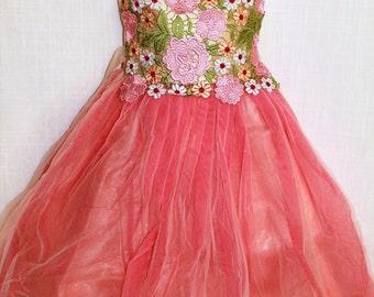 Partywear Fancy Kid Long Ball dress Prom Dress Gown Anarkali Frock age 3-12 yrs