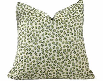 "Tilton Fenwick Haute Cactus Green Leopard Cheetah Animal Spot Pillow Cover, Made to fit 12x18 12x24 14x20 16x26 16"" 18"" 20"" 22"" 24"" Cushions"