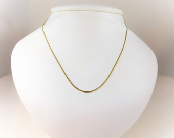 Gorgeous Petite 1mm 14k Gold S Link Chain