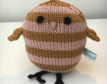 James: the handknitted bird