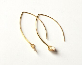 "Earrings ""Spangle"" / / Tan Tao: crochet gold or silver, thin sheet"