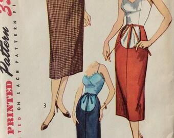 Simplicity 4004 misses maternity skirt waist 26 vintage 1950's sewing pattern  Uncut  Factory folds