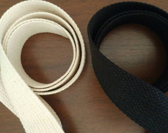 4m Cotton Webbing, 1 1/2 inch wide, Black or Natural