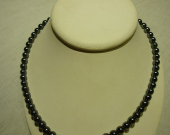 B99 Sterling Silver with Hematite Beads Necklace.