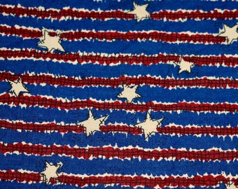 "Fat Quarter, 18""x22"", Americana Fabric,  Patriotic Fabric, Stars with Stripes Fabric, General Fabric Company, Quilting Fabric, Cotton Fabric"