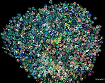 2mm (100 pcs) Natural ETHIOPIAN OPAL Round cabochon AAA++ Quality gemstone.....