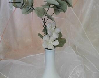 Milk Glass Bud Vase, Vintage