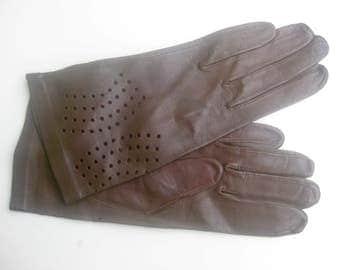 Vintage - brown leather-gloves - breakthrough