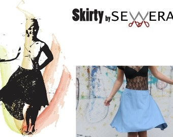 Skirty sewing pattern & instruction by Sewera